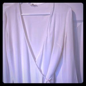 Wilfred white wrap blouse